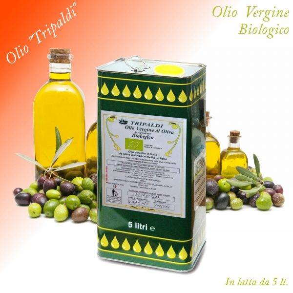 Olio Vergine di Oliva Biologico «Tripaldi» 5 Lt