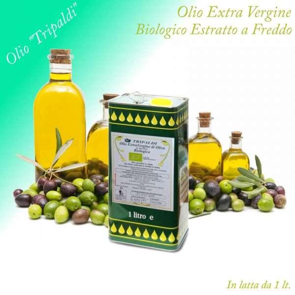 Olio Evo ExtraVergine di Oliva Biologico Estratto a Freddo «Tripaldi» 1 Lt